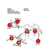 KIT SUSPENSION DELANTERA HONDA CIVIC  Kit silentblocks de suspension delantera para Honda Civic (ver listado).  Fabricado a medida en Poliuretano.   Mucho más resistente y firme que los originales de caucho.  Aportan gran rigidez y firmeza al sistema de suspensión, conservando capacidad para absorver vibraciones, para no sacrificar en confort.  #suspension #honda #poliuretano