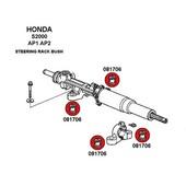 KIT SILENTBLOCKS CREMALLERA DE DIRECCION  Valido para:  Honda S2000 AP1 Honda S2000 AP2 #honda #s2000 #poliuretano #silentblock