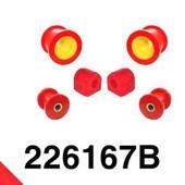 KIT SUSPENSION DELANTERA GRUPO VAG  Kit silentblocks suspension para vehículos gurpo VAG (Audi/Seat/Volkswagen/Skoda).   Fabricados a medida en poliuretano.  Mucho más resistentes que los de serie gana en estabilidad y precisión sin sacrificar demasiado en confort.  Incluye: 2 x 221402B S.B. delantero de trapecio delantero 2 x 221403B S.B. trasero de trapecio delantero 2 x 221665B Silentblock estabilizadora delantera #Seat #audi #vw #golf #Skoda #poliuretano #suspension